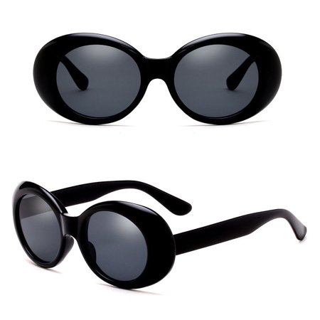 Goggles Sunglasses Rapper Oval Shades Fancy Glasses (Rapper Shades)
