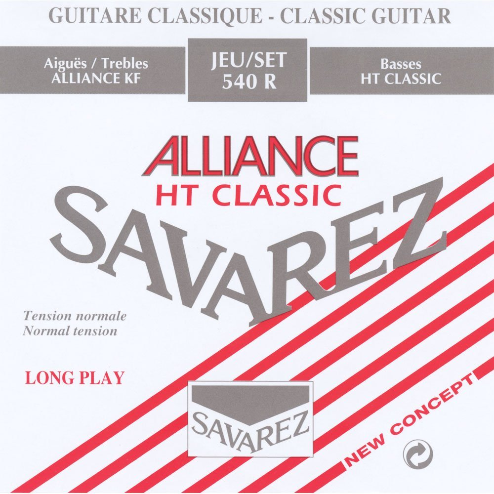 540R Alliance Classical Guitar Strings, Standard Tension, Red Card, Guitar Red 540R... by