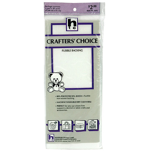 "Crafter's Choice Fusible Backing, 36"" x 20"""