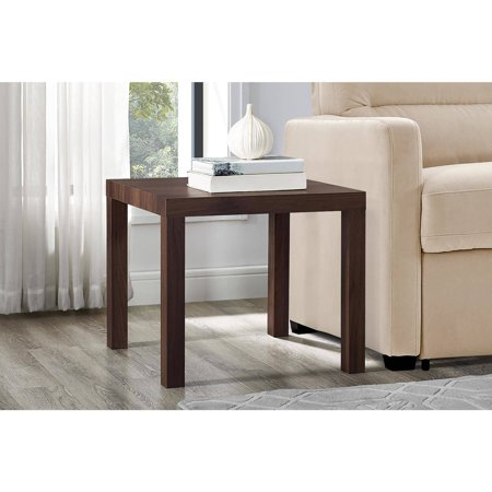 Mainstays Parsons Square End Table, Multiple Colors (Brown Round End Table)