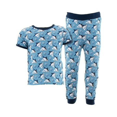 Sweet & Soft Little Boys Blue Sharks Cotton Pajamas