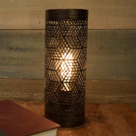 Kenroy Home Rubik Copper Bronze Metal Uplight Accent Lamp
