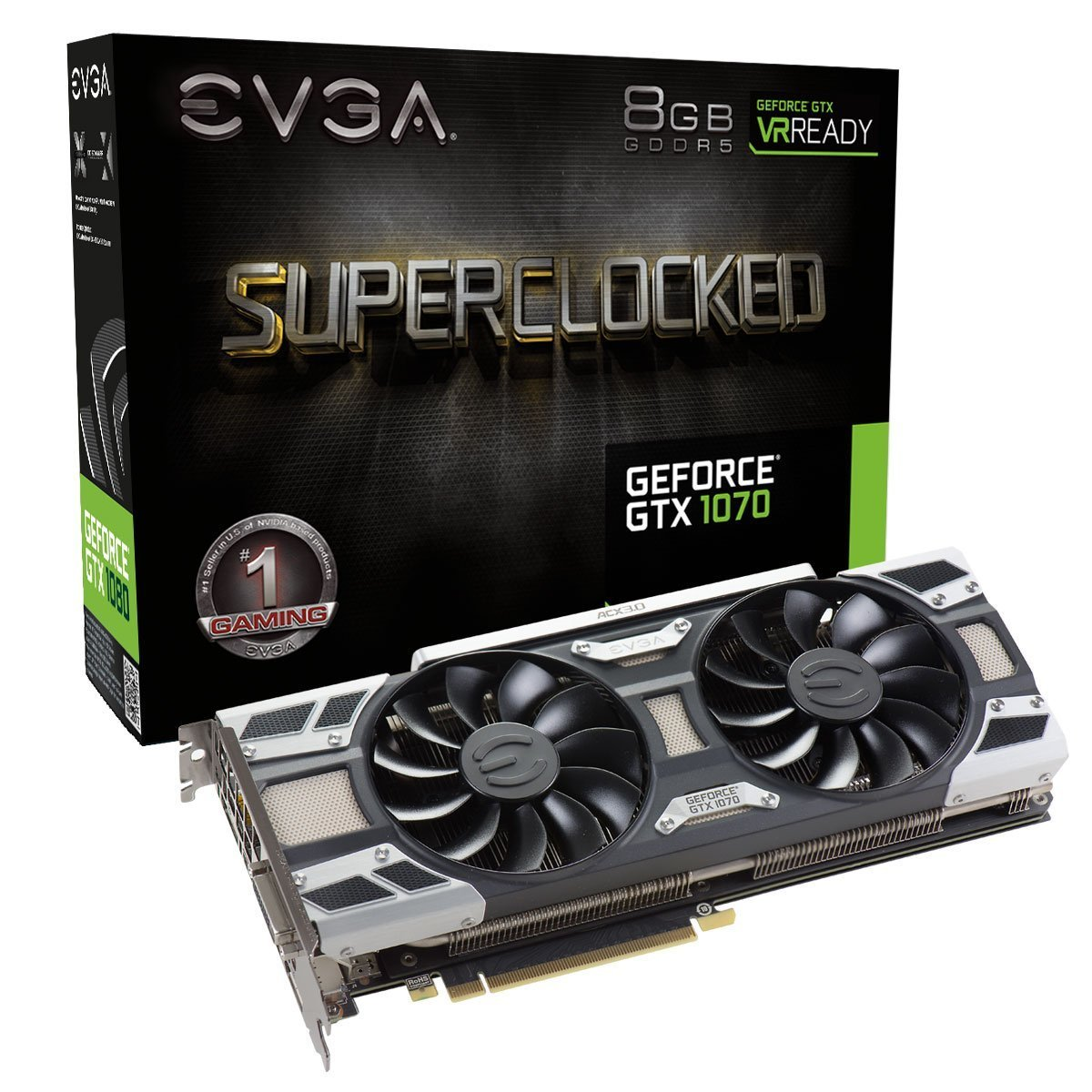 EVGA GeForce GTX 1070 SC GAMING ACX 3.0 Graphic Card 08G-...