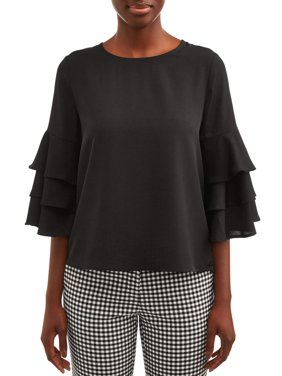 Love Sadie Women's Ruffle Sleeve Top