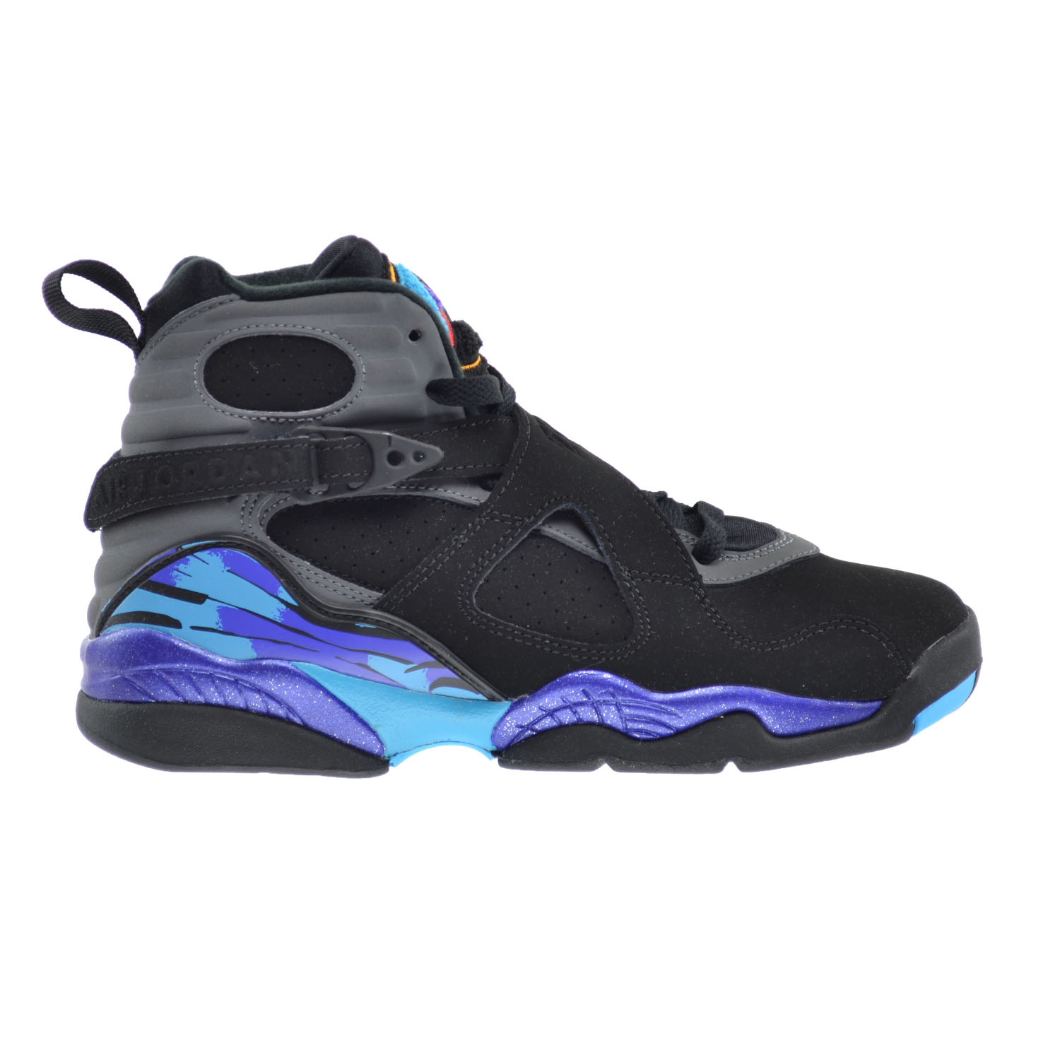 Air Jordan 8 Retro BG Big Kids Shoes Black/True Red-Bright Concord 305368-025