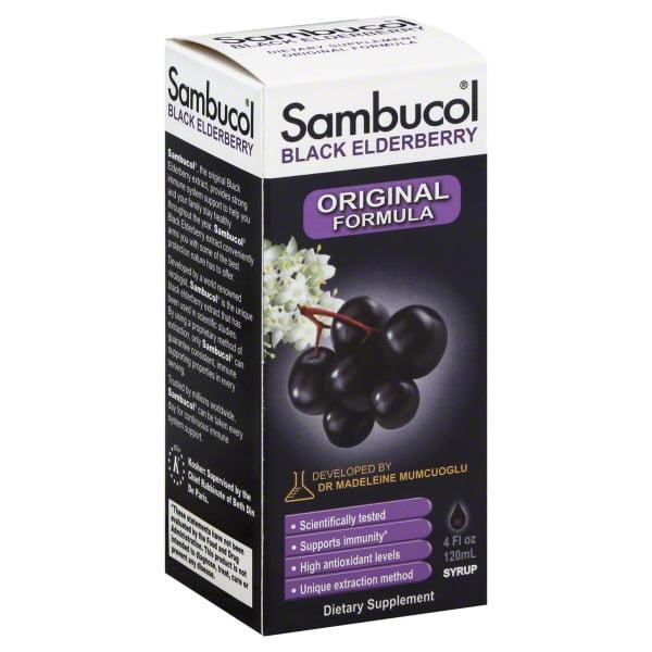Sambucol Black Elderberry Great Tasting Syrup, 4 fl oz