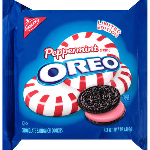 Nabisco Oreo Peppermint Creme Cookies, 10.7 oz.