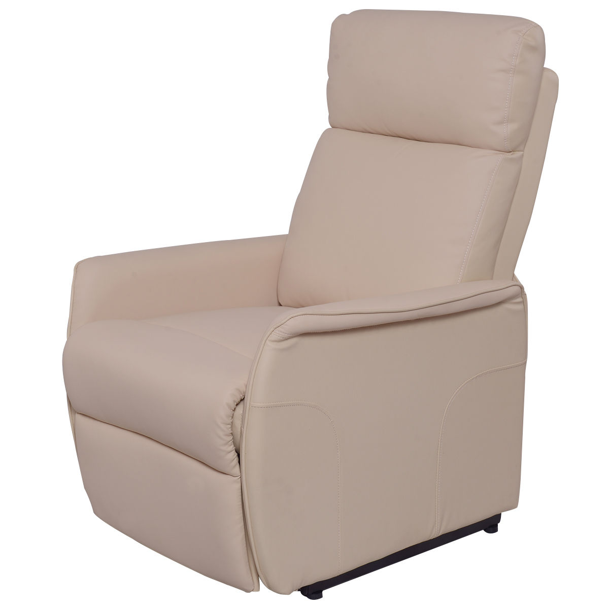 costway pu electric lift chair power recliner reclining sofa lounge wremote controller - Electric Recliner Chairs