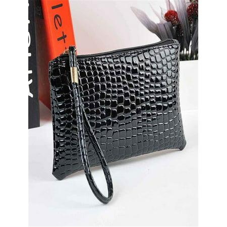 Women Crocodile Leather Clutch Handbag Bag Coin Purse BK