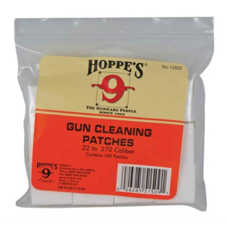 Hoppes Gun Cleaning Patches .38.45 Caliber/.410-20 Gauge Bulk 500 Pack, 1204S