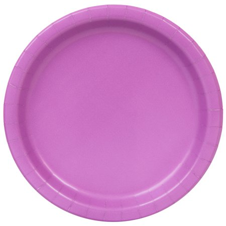 Paper Plates, 9 in, Purple, 48ct (Solid Color Paper Plates)