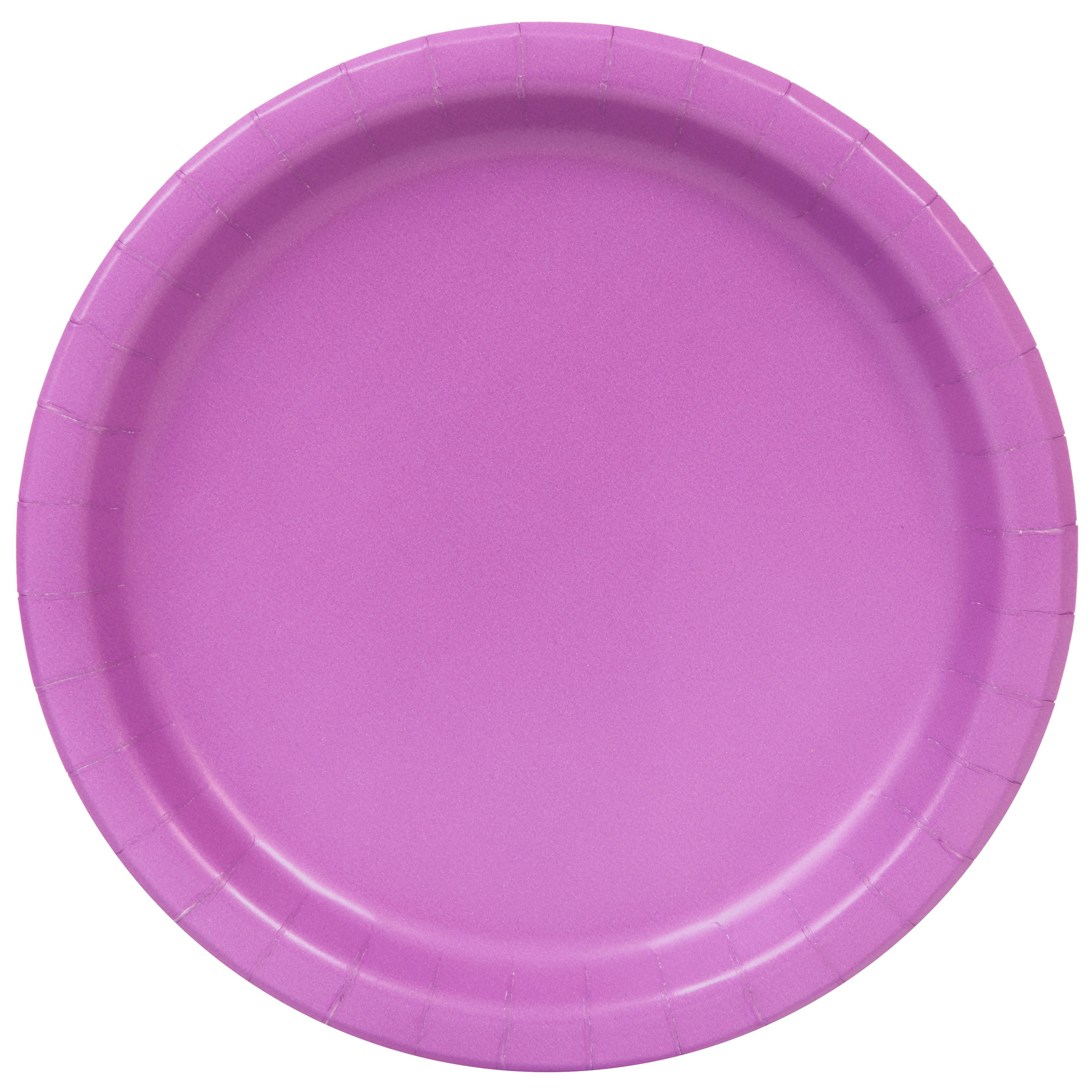 Paper Plates, 9 in, Purple, 48ct
