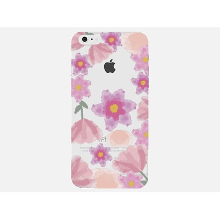 new styles 2de78 7de12 Floral Watercolor Design Purple Pink Cute Girl Flower Clear Phone Case -  For Apple iPhone 5s / 5 Phone Back Cover