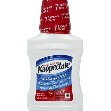 Kaopectate Multi-Symptom Relief Anti-Diarrheal/Upset Stomach Reliever Liquid, Cherry, 8 Fl Oz