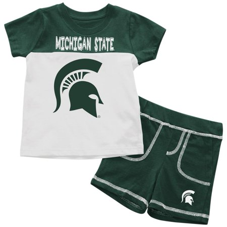Spartan Outfits (Michigan State University Infant T-Shirt and Shorts Boy's 2-Pc)