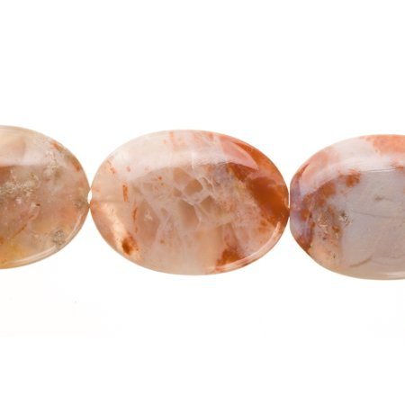 - Flat Mix Marble Oval Beads Semi Precious Gemstones Size: 31x23mm Crystal Energy Stone Healing Power for Jewelry Making