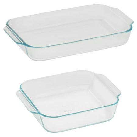 Pyrex Basics, Glass Bakeware Set, 2 Piece