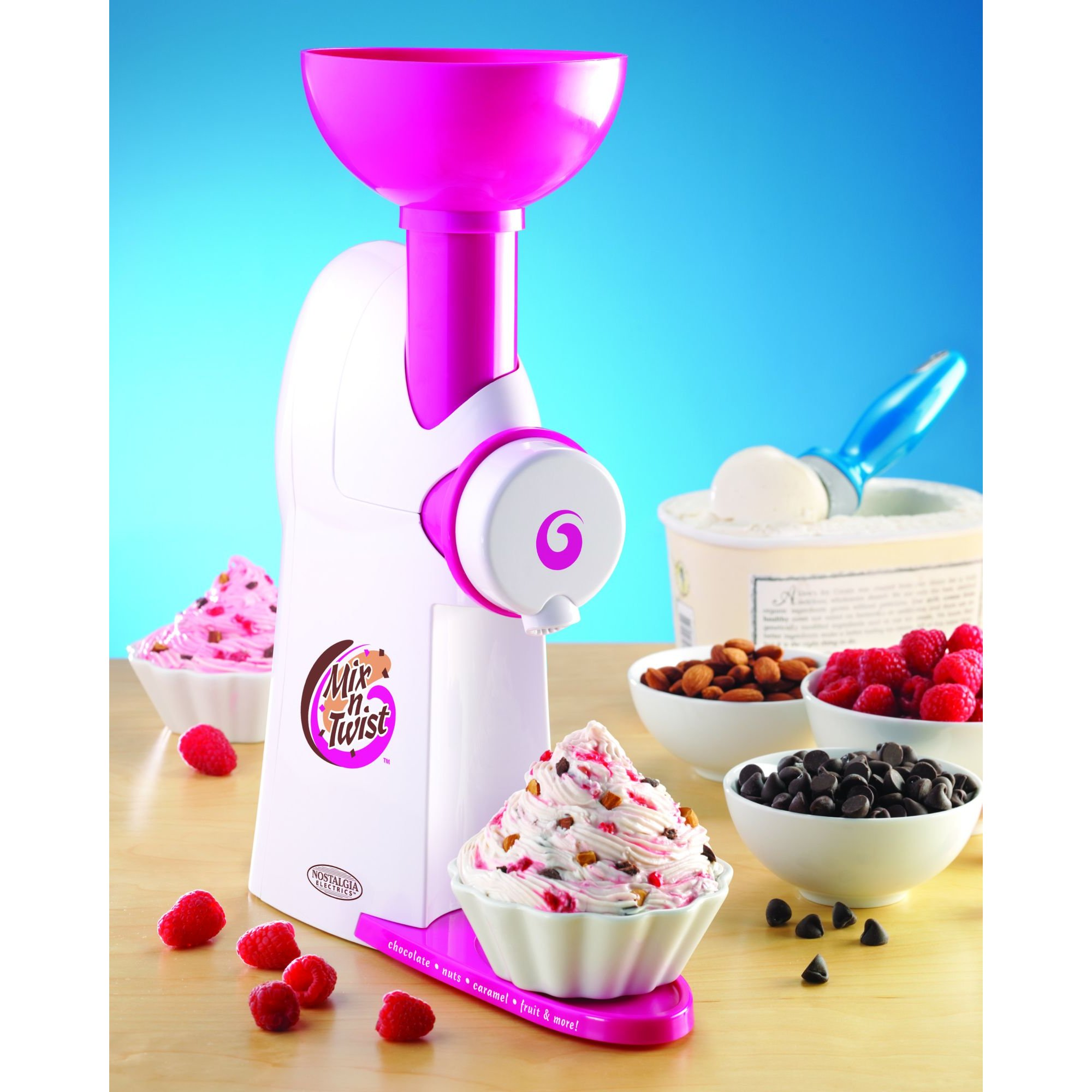 Nostalgia Electrics MTC100 Mix-N-Twist Ice Cream and Toppings Mixer