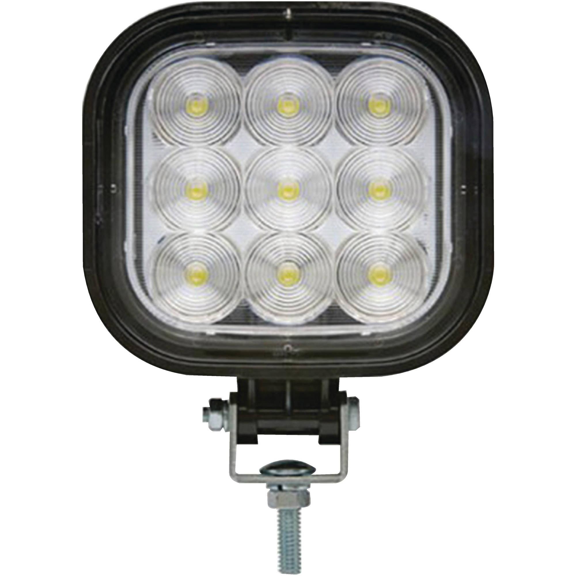 Optronics TLL50FS Opti-Brite Polycarbonate 12V and 24V LED Work Floodlight, IPX9K Rating, 9 Diodes