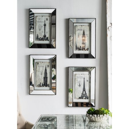 A & B Home Architecture Mirrored Wall Art - Set of 4 ()