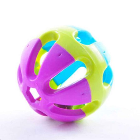 Pet Bird Bites Parrot Chew Sound Ball Toys with Ring Swing Cage (Bird Fat Balls)