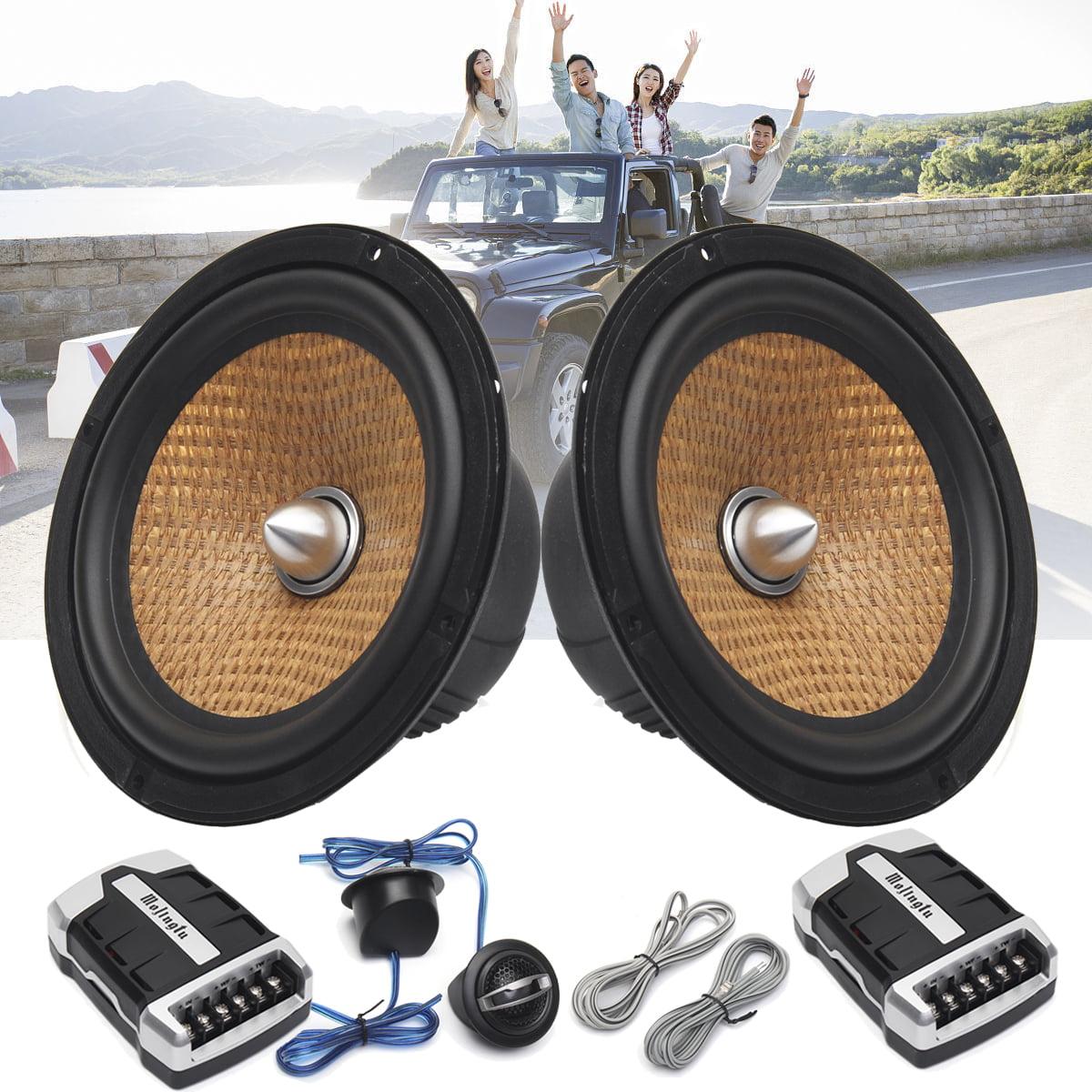 "1 Pair 6.5"" 2-Way Component System Kit 600 Watt Car Motorcycle Audio Speaker"
