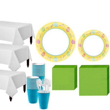 Party City Egg-cellent Easter Tableware Party Kit for 40 Guests, 493 Pieces](Roseville Party City)