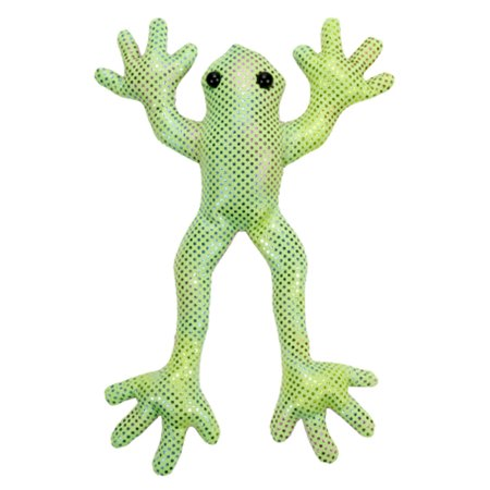 Shimmering Green Bean Bag Tree Frog With A Pink Belly By