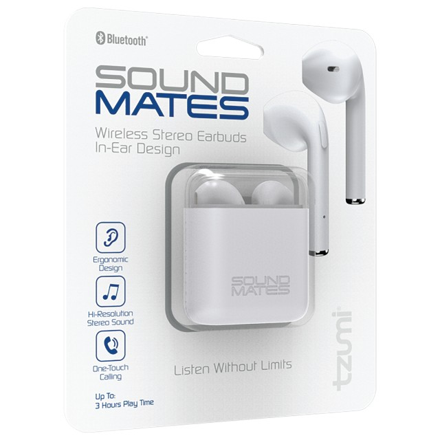 Tzumi Sound Mates Bluetooth Earbuds With Protective Charging Case Walmart Com Walmart Com
