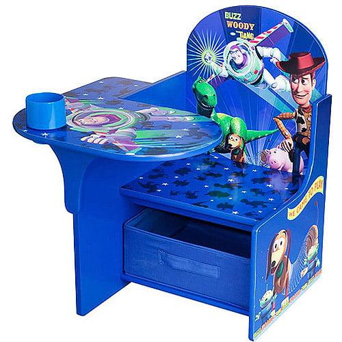 disney toy story desk & chair with storage bin - walmart