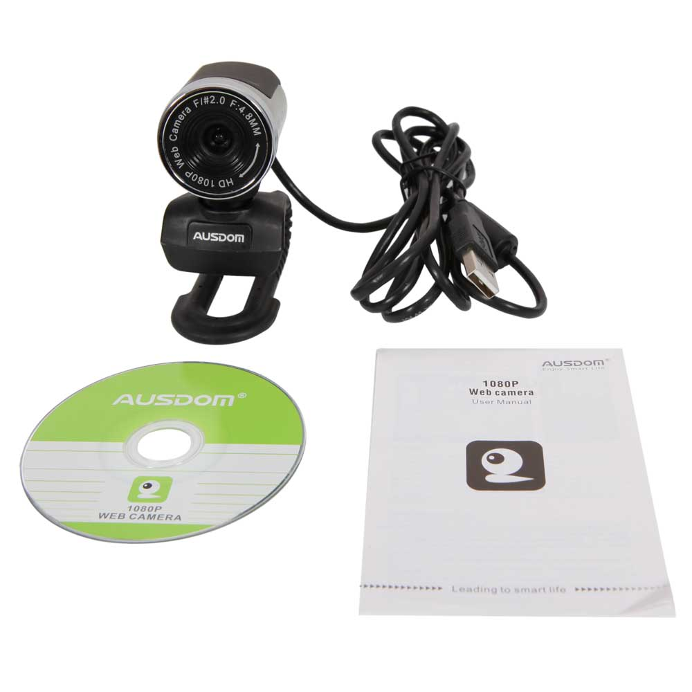 Zimtown AUSDOM 1080P Full HD 12MP Webcam Computer PC Web Video Camera with MIC For Skype