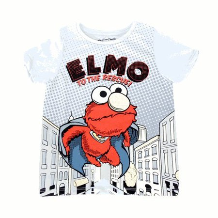 Sesame Street Elmo to the Rescue Toddlers T-shirt with Cape - Elmo T Shirt