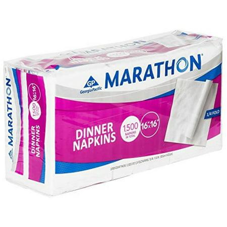 Marathon - Embossed Dinner Napkins, 1/4 Fold - 1,500
