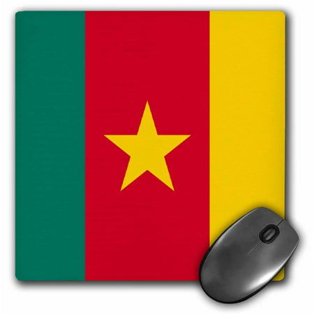 3dRose Cameroon Flag, Mouse Pad, 8 by 8 inches