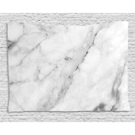 Marble Tapestry, Granite Surface Motif with Sketch Nature Effect and Cracks Antique Style Image, Wall Hanging for Bedroom Living Room Dorm Decor, 60W X 40L Inches, Grey Dust White, by Ambesonne ()