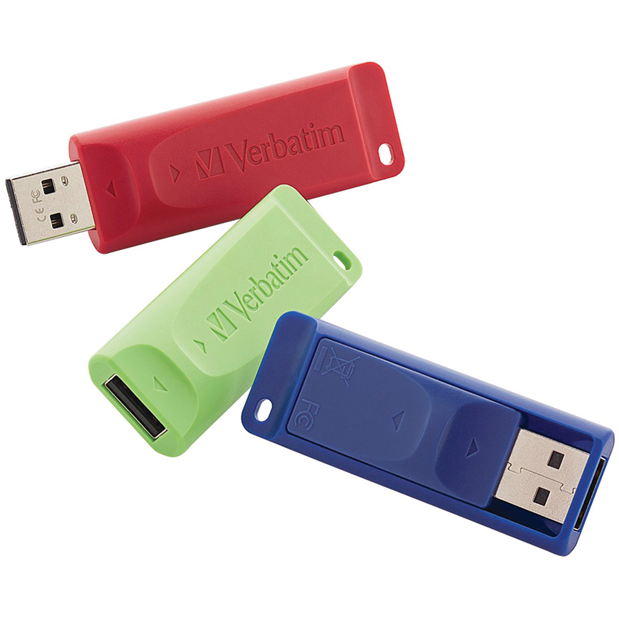 Verbatim 98703 8GB Store 'n' Go USB Flash Drive, 3pk