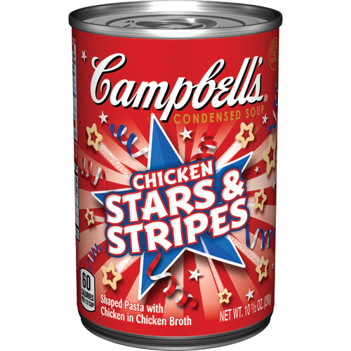 Campbell's Condensed Chicken Stars & Stripes Shaped Pasta Soup, 10.5 oz.