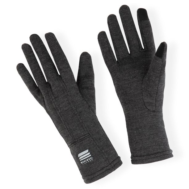Meriwool Merino Wool Unisex Glove Liners For Use With Touch Screens In Charcoal Gray Medium Walmart Com Walmart Com
