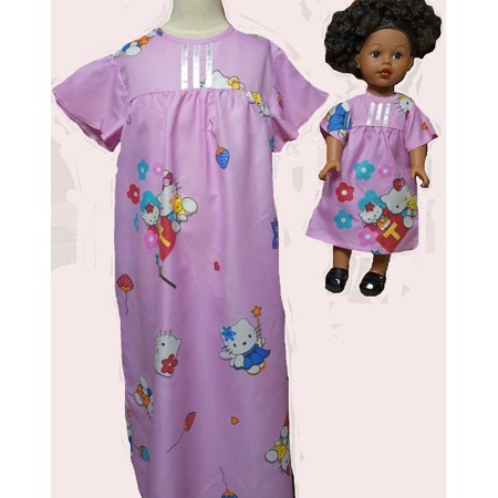 Size 7 Matching Girl And Doll Pink Summer Nightgowns On Sale (Nightgown Sale)