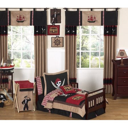 best sneakers 8f0c9 71a87 Treasure Cove Pirate Bed Skirt for Toddler Bedding Sets by Sweet Jojo  Designs