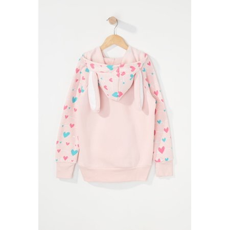 Urban Kids Youth Girls Pink Bunny Character Hoodie - image 1 of 3