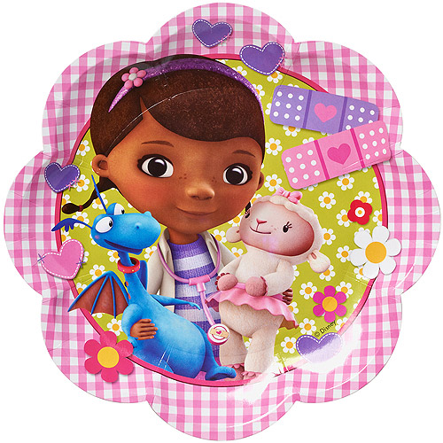 Doc McStuffins 9  Die Cut Plates 8 Count Party Supplies  sc 1 st  Walmart & Doc McStuffins 9