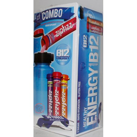Zipfizz Healthy Energy Drink Mix, Variety Pack, 30 Plus Water Bottle Mix  Box Set