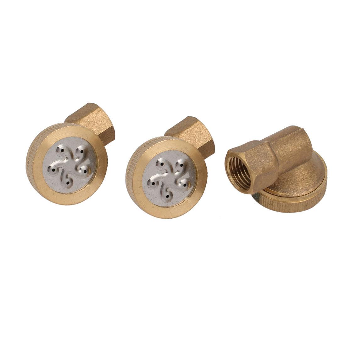 1 4BSP Female Thread 90 Degree 5-Hole Garden Sprinkler Misting Spray Nozzle 3pcs by Unique-Bargains