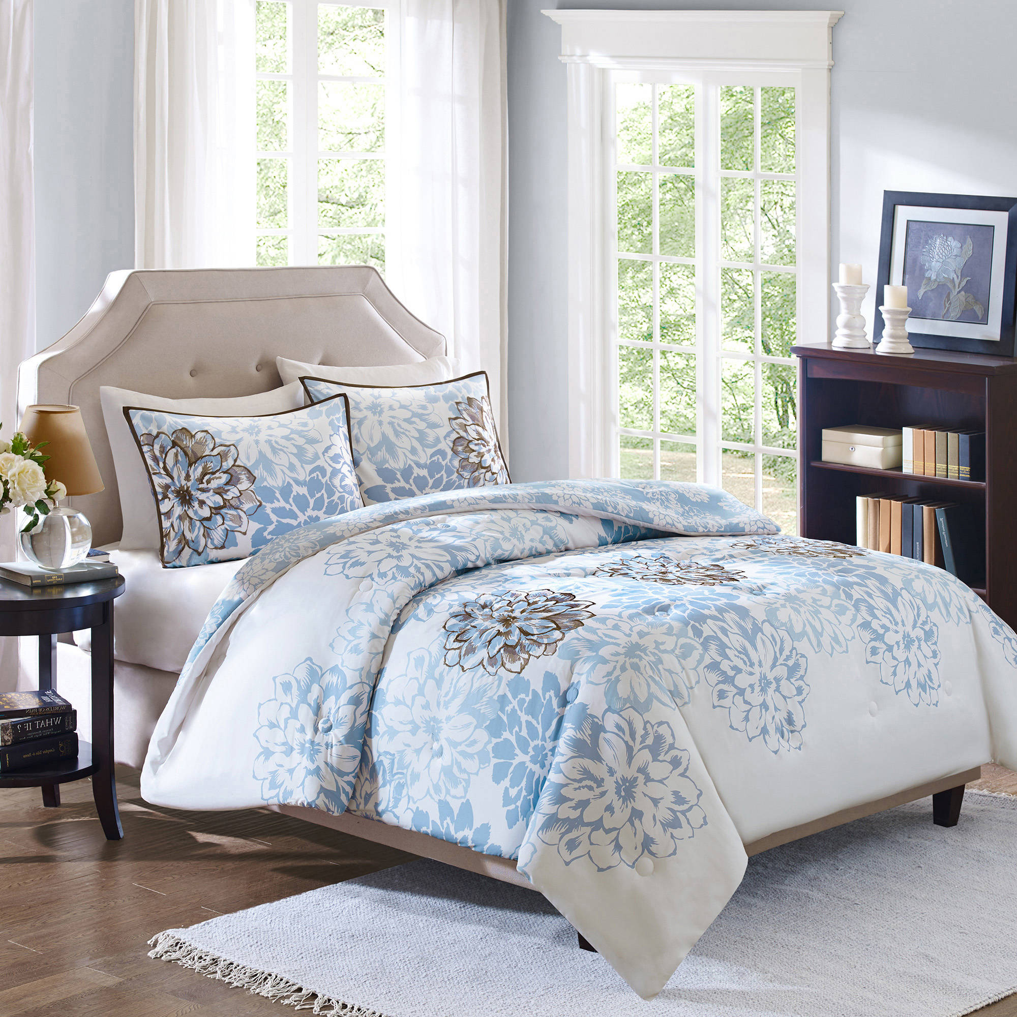 Attirant Better Homes And Gardens Capri 3 Piece Reversible Comforter Bedding Set    Walmart.com