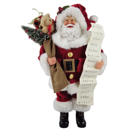 Santa's Workshop Santa with List Figurine