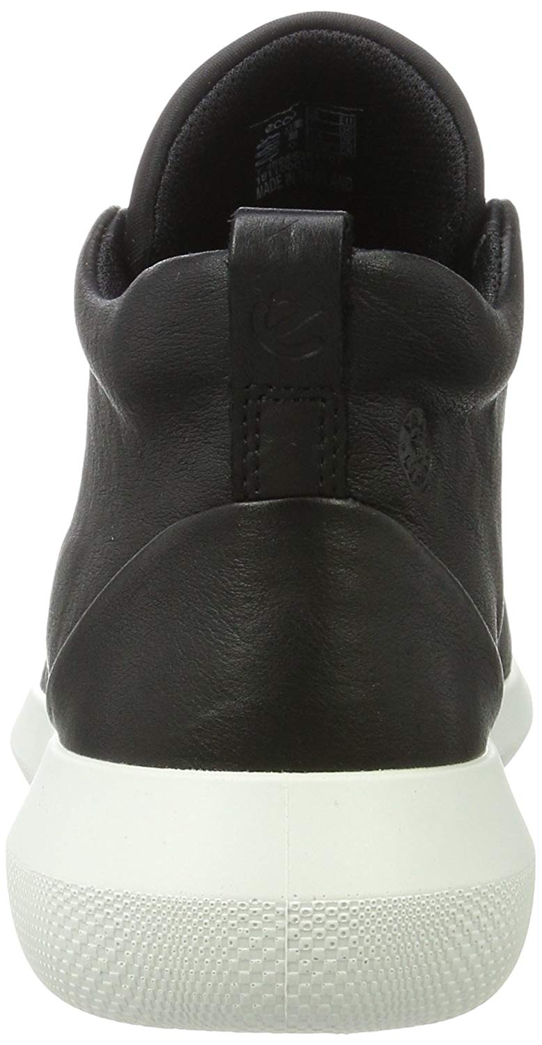 ECCO Womens Scinapse Hight Top Bungee Fashion Sneakers, Black/Black, Size 10.0