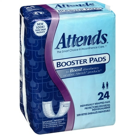 Attends Pad (Pad Attends Booster Pads 11.5 L X 3.75 W Inch Super Absorbency -Bag of 24 )