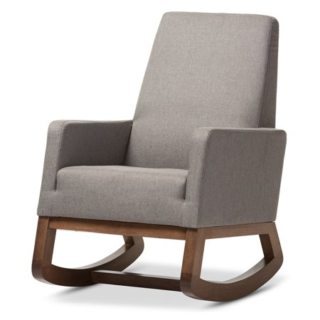 Fabulous Baxton Studio Yashiya Mid Century Retro Modern Rocking Chair Gmtry Best Dining Table And Chair Ideas Images Gmtryco