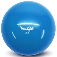 yes4all soft weighted medicine toning ball - blue - 2 lbs - ccznz